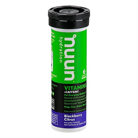 Nuun Vitamins + Caffeine Hydration Tablets Blackberry Citrus - 12 Count
