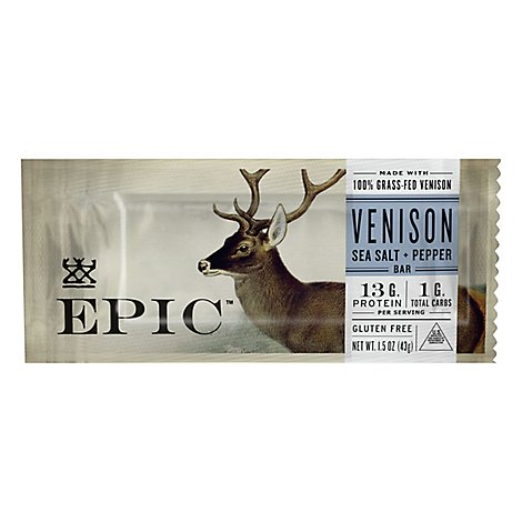 Epic Bar Venison Sslt Pppr - 1.5 Oz