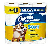 Charmin Essentials Bathroom Tissue Soft Mega 2 Ply - 12 Roll