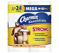 Charmin Essentials Bathroom Tissue Strong Mega Roll 1-Ply Wrapper - 6 Roll