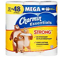 Charmin Essentials Bathroom Tissue Strong Mega Roll 1 Ply - 12 Roll