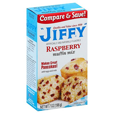Jiffy Muffin Raspberry Mix - 7 Oz