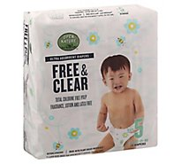 Open Nature Free & Clear Diapers Ultra Absorbent Size 5 - 25 Count