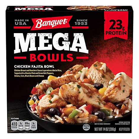 Banquet Mega Bowl Chicken Fajita - 14 Oz