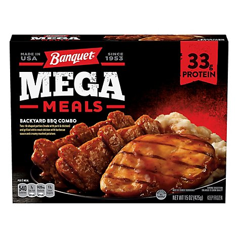 Banquet Mega Meal Backyard Bbq Combo - 15 Oz