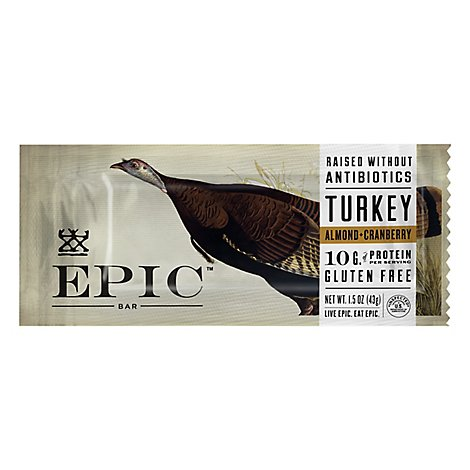 Epic Bar Trky Almnd Crnbry - 1.5 Oz