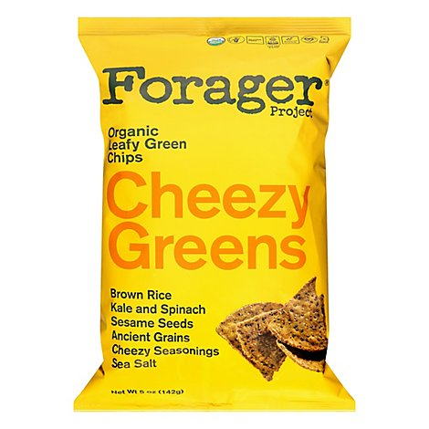 Forager Vegetable Chips Cheezy Greens - 5 Oz