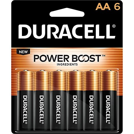 Duracell Coppertop Battery Alkaline AA - 6 Count