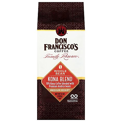 Don Francisco Kona Blend Whole Bean Coffee - 12 Oz