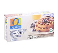 O Organics Organic Waffles Blueberry 6 Count - 7.4 Oz