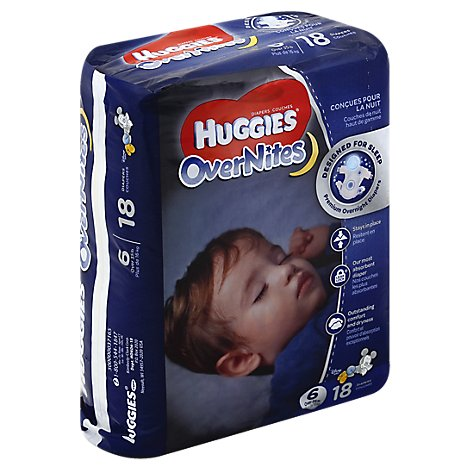 Huggies Diapers Overnites Size 6 - 18 Count