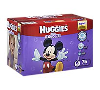 Huggies Little Movers Diapers Size 6 Giant Pack - 76 Count