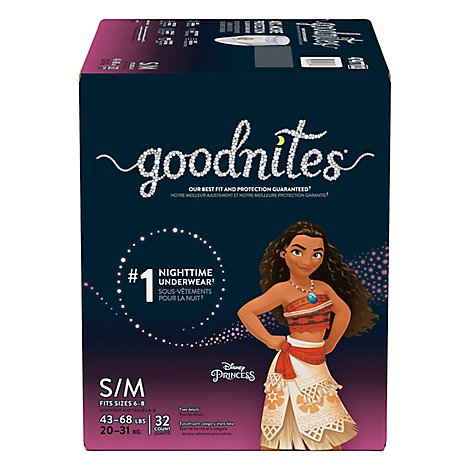 Goodnites Bedtime Pants For Youth Girls Small/Medium - 32 Count