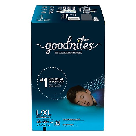 GoodNites Underwear Nighttime Youth For Boys Large/Extra Large - 24 Count