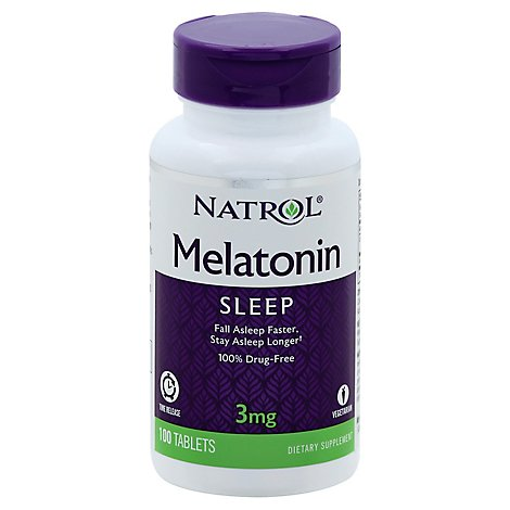 Natrol Melatonin Tablets 3 mg Time Release - 100 Count