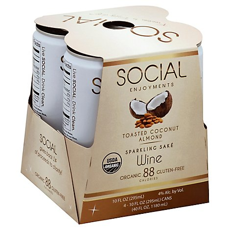 Social Enjoyments Toasted Coconut Almond Cans Wine - 4-10 Fl. Oz.