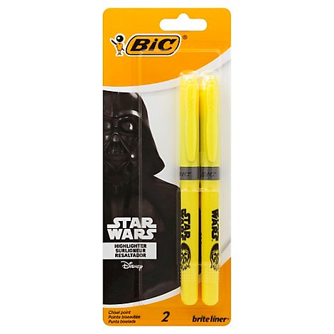 Bic Star Wars Brt Lnr Yel 2pk - Each