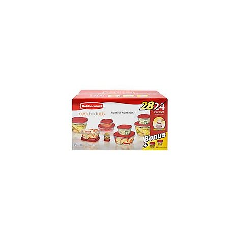 Rubbermaid Easy Find Lids Containers + Lids - 28 Count