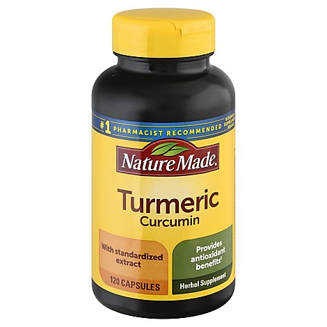 Nature Made Herbal Supplement Capsules Turmeric Curcumin - 120 Count