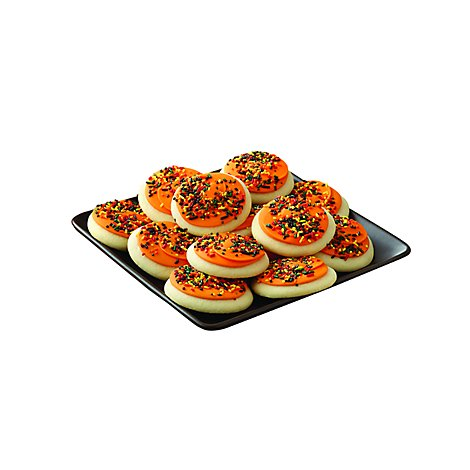 Cookie Frosted Sugar Harvest Orange Tray - 27 Oz