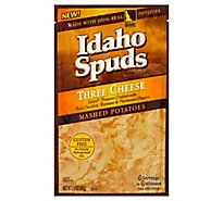 Idaho Spuds Potatoes Mashed Gluten Free Three Cheese Pouch - 3.74 Oz