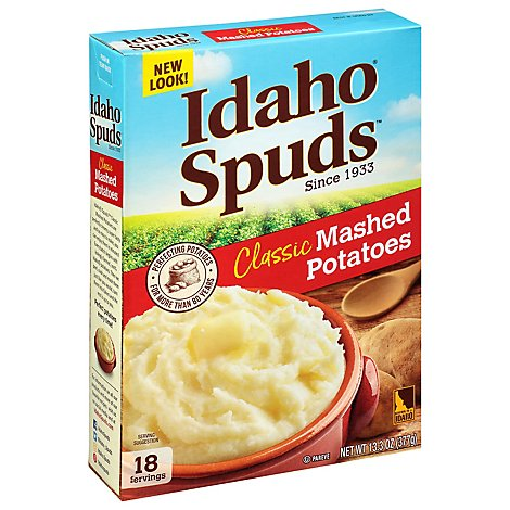 Idaho Spuds Potatoes Mashed Gluten Free Classic Box - 13.3 Oz