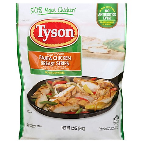 Tyson Grilled & Ready Fully Cooked Fajita Chicken Breast Strips - 12 Oz