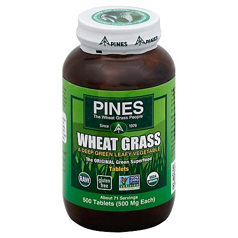Pines Wheat Grass Green Leafy Vegetable - 500 Count