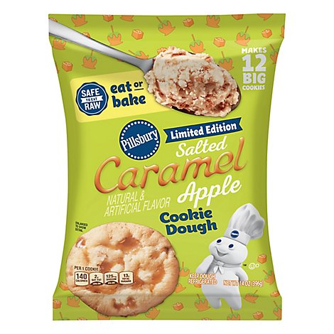 Pillsbury Apple Cookies Salted Caramel  - 14 Oz
