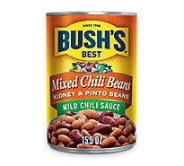 BUSHS BEST Beans Mixed Chili Kidney & Pinto Mild Chili Sauce - 15.5 Oz