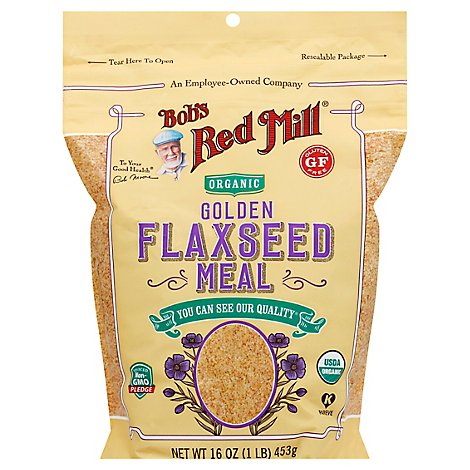 Bobs Red Flaxseed Meal Golden Org - 16 Oz
