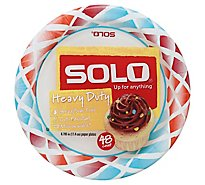 SOLO Up For Anything Paper Plates Heavy Duty 6.785 Inch - 48 Count