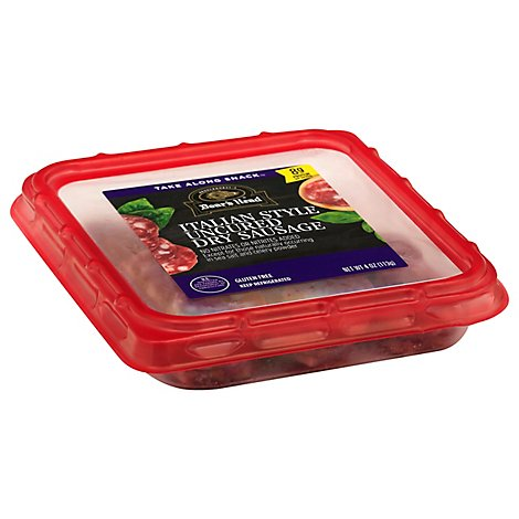 Boars Head Sliced Italian Dry Sausage Snack Tray - 3 Oz