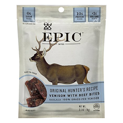 Epic Bites Original Hunters Recipe Venison With Beef - 2.5 Oz