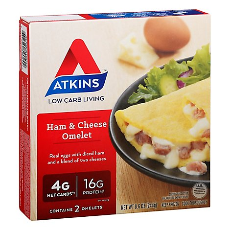 Atkins Omelet Ham & Cheese 2 Count - 8.6 Oz
