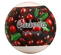 Cranberry Bath Bomb - 4.8 Oz