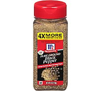 McCormick Pepper Black Pure Ground - 6 Oz