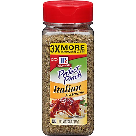 McCormick Perfect Pinch Seasoning Italian - 2.25 Oz