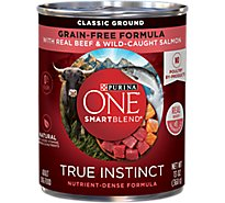 Purina ONE SMARTBLEND Dog Food Classic Ground With Real Beef & Wild-Caught Salmon Can - 13 Oz