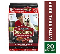 Dog Chow Dog Food Dry Complete Real Beef - 20 Lb