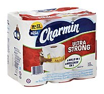 Charmin Bathroom Tissue Ultra Strong Mega Roll 2-Ply Wrapper - 18 Roll