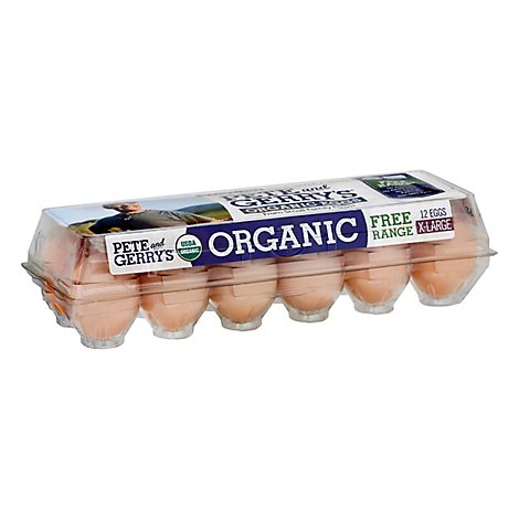 Pete and Gerrys Eggs Organic Extra Large Free Range - 12 Count