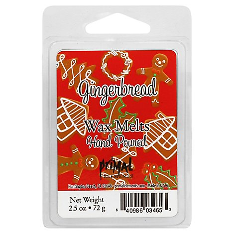 Primal Elements Wax Melt Gingerbread - 2.5 Oz