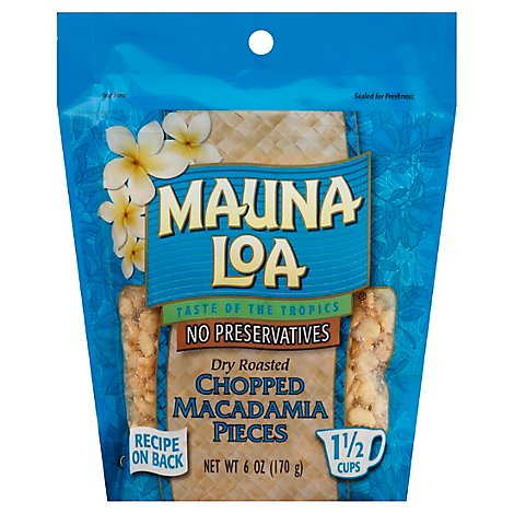 Mauna Loa Dry Roasted Chopped Macadamias - 6 Oz