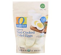 O Organics Organic Eggs Hard Cooked Peeled Ready To Eat 6 Count - 9 Oz