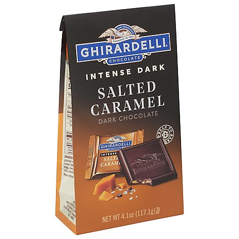 Ghirardelli Salted Caramel Cascade Chocolate Intense Dark - 4.1 Oz
