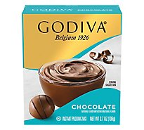 Godiva Instant Pudding Mix Chocolate Pudding Box - 3.7 Oz
