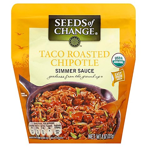 Seeds Of Change Simmer Sauce Taco Roasted Chipotle Pouch - 8 Oz