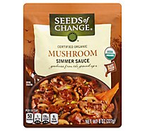 Seeds Of Change Simmer Sauce Certified Organic Mushroom Pouch - 8 Oz