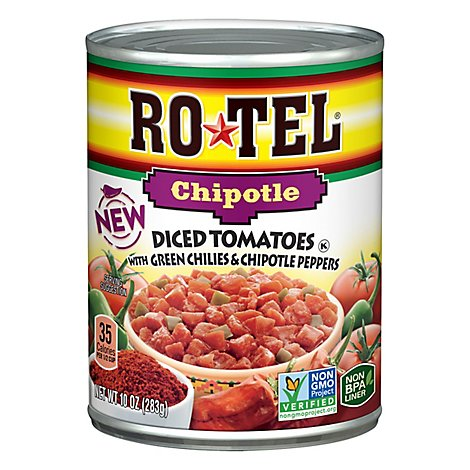 Rotel Chipotle Diced Tomatoes With Green Chilies & Chipotle Peppers - 10 Oz